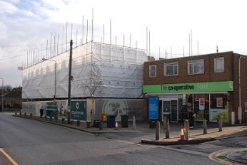 Community centre being built, Mays Lane