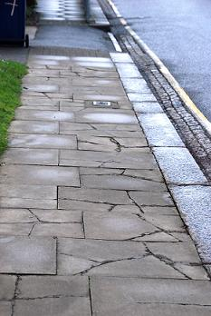Cracked pavement, Barnet