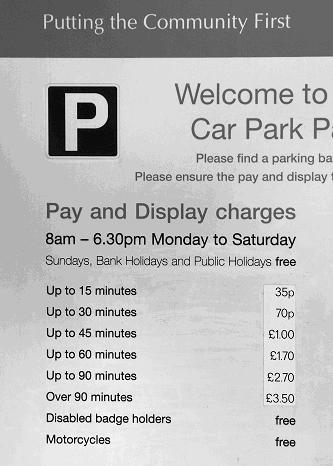 Barnet parking charges