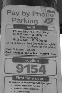 Parking free by phone