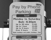 Parking pay by phone