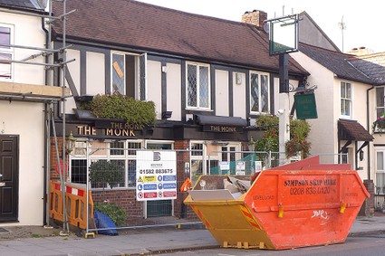 The Monk pub undergoing alterations