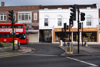 Wood Street turning into High Street, Barnet
