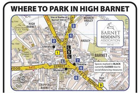 Where to park in High Barnet, with map