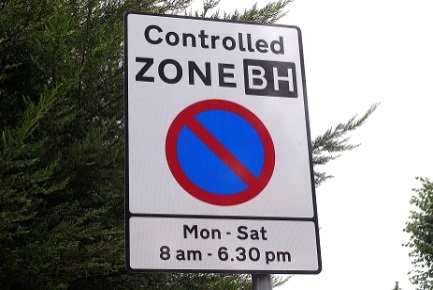 controlled zone BH, no parking, Mon to Sat 8 am to 6.30 pm